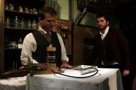 Victor and Clerval in lab