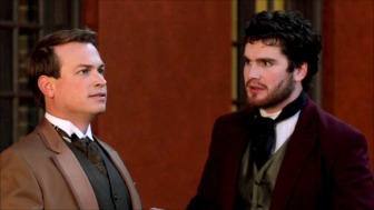 Victor Frankenstein (Dustin Sturgill) and Clerval (played by Tim Ashby)